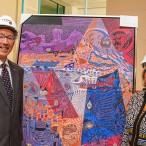Le coprésident de la Grande campagne, M. Yvon Charest et Mme Hélène Costin posant devant leur